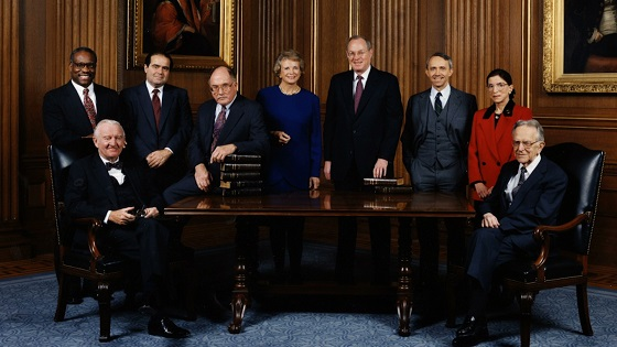 Photo of the Supreme Court Justices, c. 1993 in RBG, a Magnolia Pictures release. Photo courtesy of Magnolia Pictures.