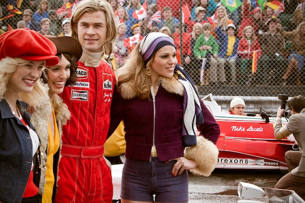 CHRIS HEMSWORTH stars as the charismatic Englishman James Hunt in