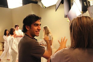 Writer/director Zal Batmanglij on the set of SOUND OF MY VOICE.
