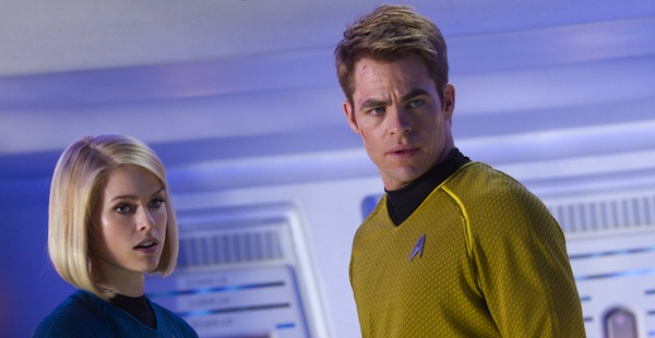 Chris Pine and Alice Eve in Star Trek Into Darkness