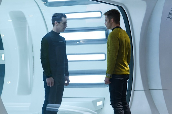 Benedict Cumberbatch is John Harrison and Chris Pine is Kirk in STAR TREK INTO DARKNESS from Paramount Pictures and Skydance Productions.
