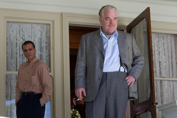 Joaquin Phoneix and Philip Seymour Hoffman in The Master