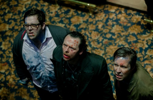 Nick Frost as Andy, Simon Pegg as Gary and Paddy Considine as Steven in Edgar Wright's new comedy THE WORLD'S END, a Focus Features release.  Photo Credit: Laurie Sparham / Focus Features