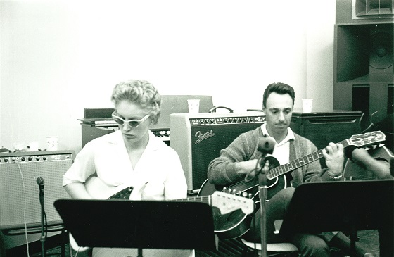 Carol Kaye and Bill Pitman in THE WRECKING CREW, a Magnolia Pictures release.  Photo courtesy of Magnolia Pictures.