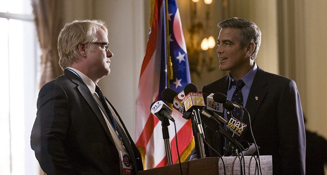 George Clooney and Philip Seymour Hoffman in The Ides of March (2011)
