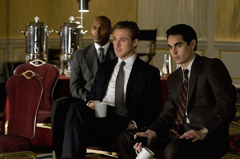 Ryan Gosling and Max Minghella in The Ides of March (2011)