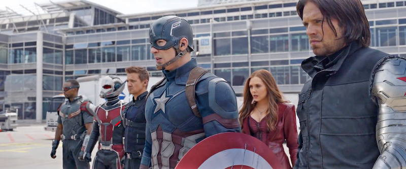 A scene from Captain America Civil War