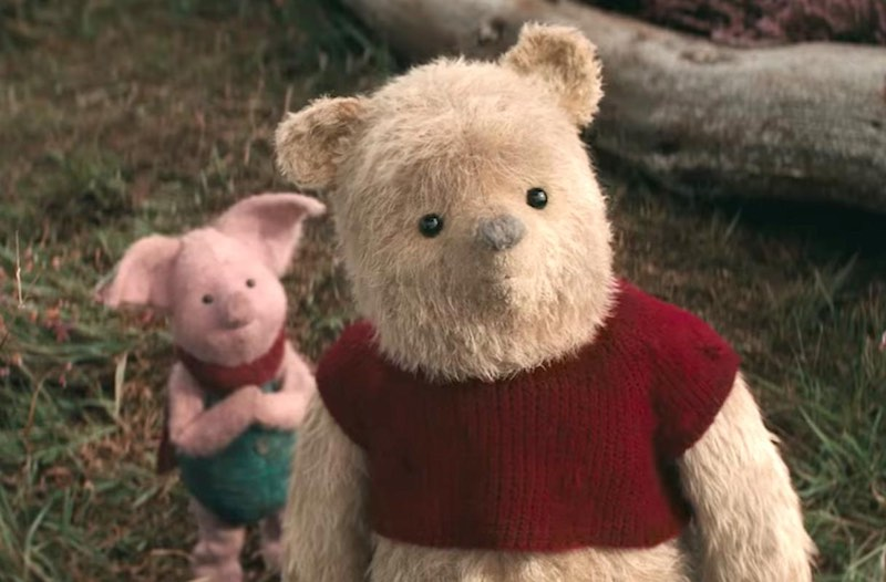 Jim Cummings as Pooh and Nick Mohammed as Piglet in Christopher Robin (2018)