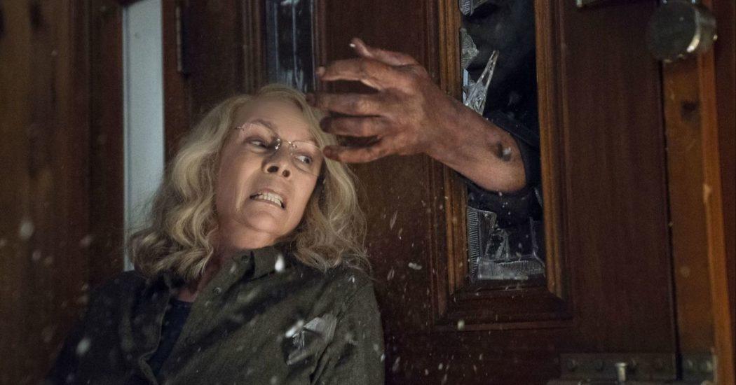 Jamie Lee Curtis in Halloween (2018).