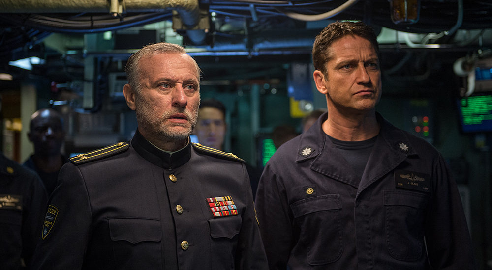 Gerard Butler and Michael Nyqvist in Hunter Killer.
