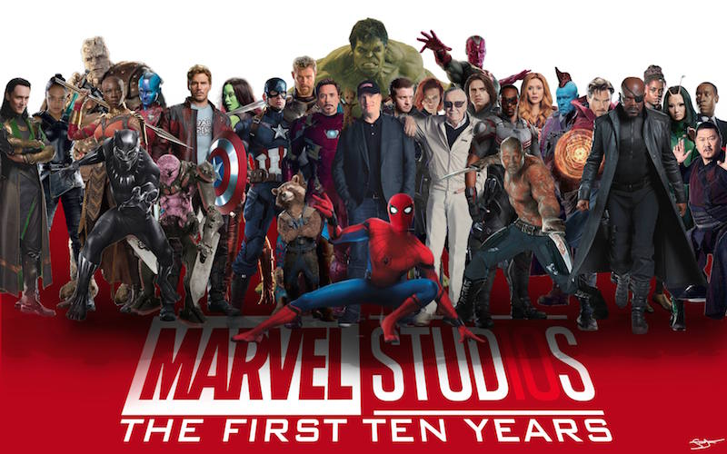 Marvel - The First Ten Years. Photo courtesy of Grandmaster/Imgur.