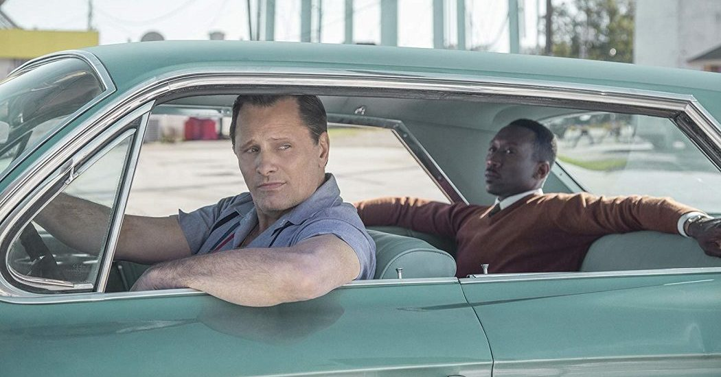 Viggo Mortensen and Mahershala Ali star in GREEN BOOK, photo courtesy of Participant Media/Universal Pictures.