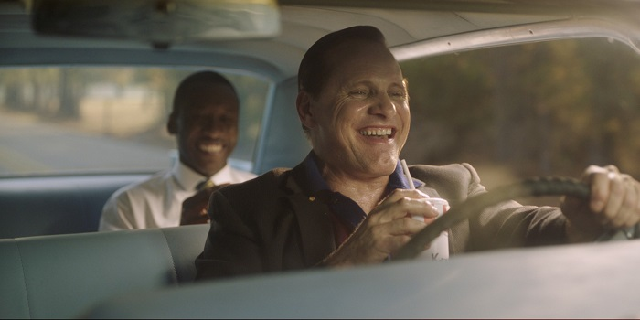 Mahershala Ali and Viggo Mortensen star in GREEN BOOK, photo courtesy of Participant Media/Universal Pictures.