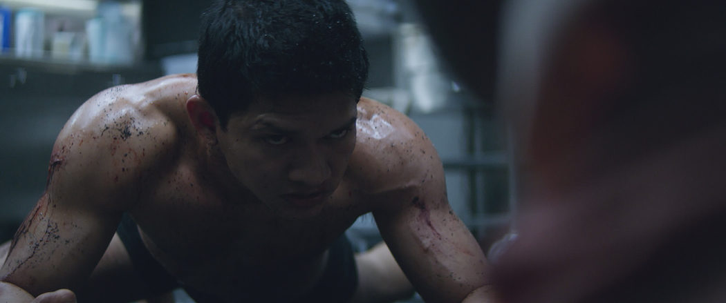 Iko Uwais stars in Mile 22. Motion Picture Artwork © 2017 STX Financing, LLC. All Rights Reserved. Courtesy of STXfilms