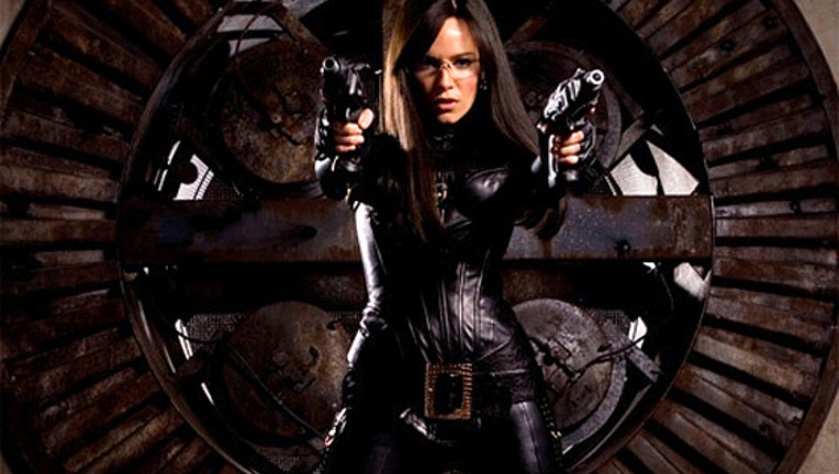 Sienna Miller as Baroness in G.I. Joe The Rise of Cobra