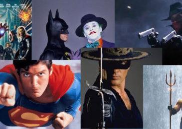 superheroes collage
