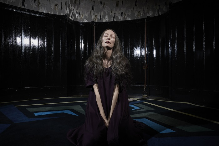 Tilda Swinton as Madame Blanc stars in Suspiria. Photo credit: Alessio Bolzoni, courtesy of Amazon Studios.