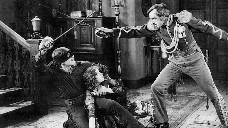 Douglas Fairbanks in The Mark of Zorro