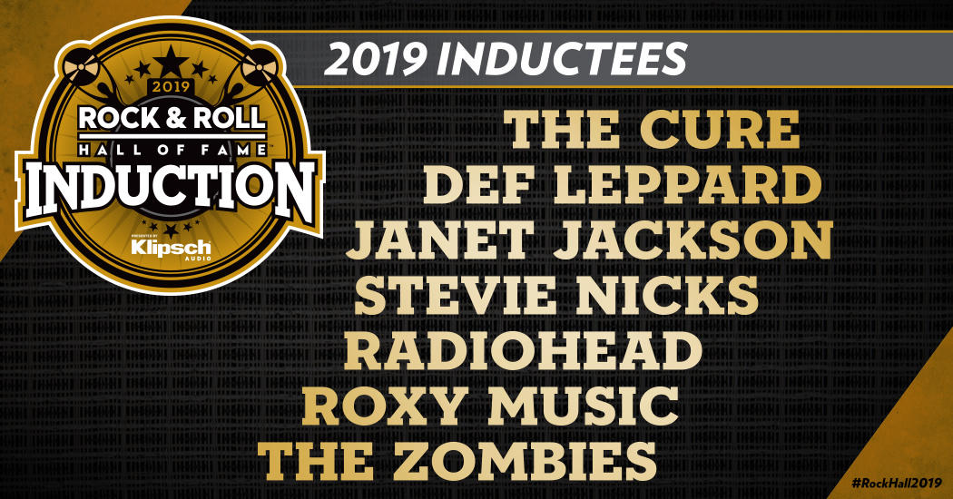 2019 Rock & Roll Hall Of Fame Inductees. Image courtesy of Rock & Roll Hall of Fame,.