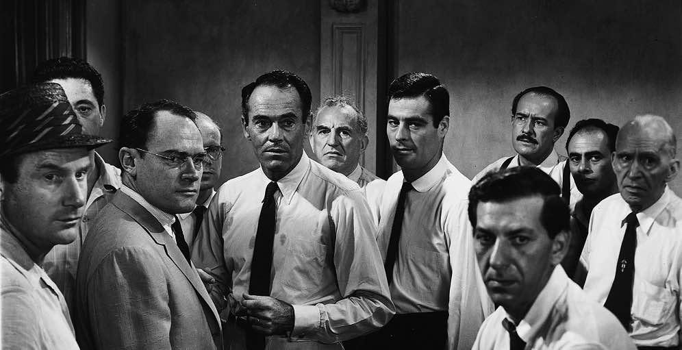 Henry Fonda, Martin Balsam, Jack Klugman, Ed Begley, Edward Binns, John Fiedler, E.G. Marshall, Joseph Sweeney, George Voskovec, Jack Warden, and Robert Webber in 12 Angry Men (1957)