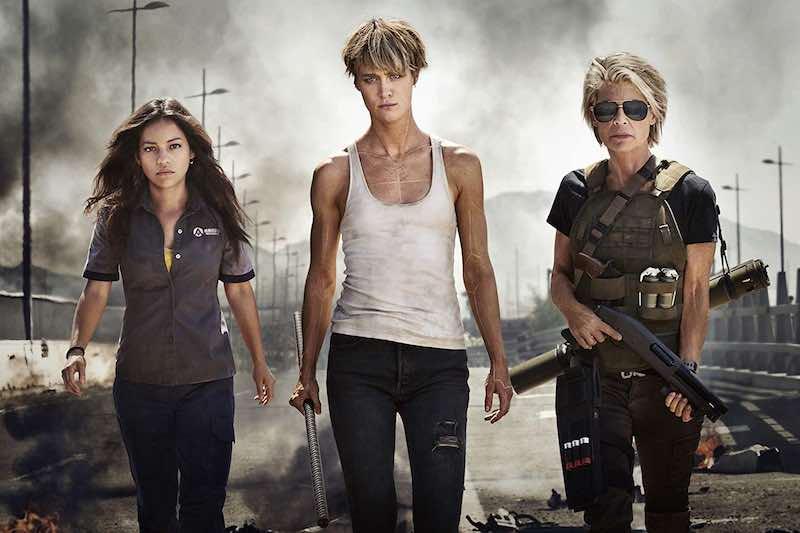 Linda Hamilton, Natalia Reyes, and Mackenzie Davis in Untitled Terminator Reboot