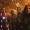 Robert Downey Jr., Chris Pratt, Dave Bautista, Pom Klementieff, and Tom Holland in Avengers- Infinity War (2018)