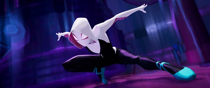 Spider-Gwen (Haley Steinfeld) in Columbia Pictures and Sony Pictures Animation's SPIDER-MAN: INTO THE SPIDER-VERSE. Photo Credit Sony Pictures Animation.