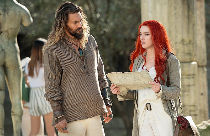 Jason Momoa and Amber Heard in Aquaman. © 2017 Warner Bros. Entertainment Inc. and Ratpac-Dune Entertainment LLC. All Rights Reserved.