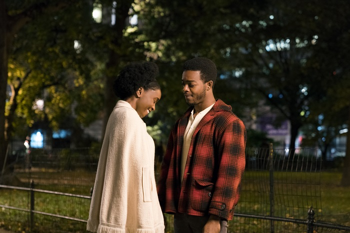 KiKi Layne as Tish and Stephan Hames as Fonny star in Barry Jenkins' IF BEALE STREET COULD TALK, an Annapurna Pictures release. Photo: Tatum Mangus / Annapurna Pictures.