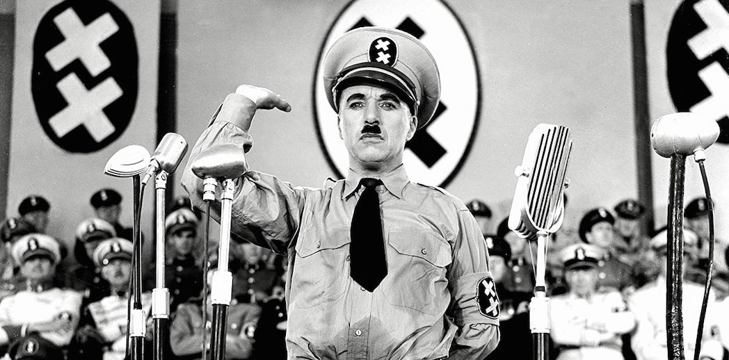 Charles Chaplin in The Great Dictator (1940)