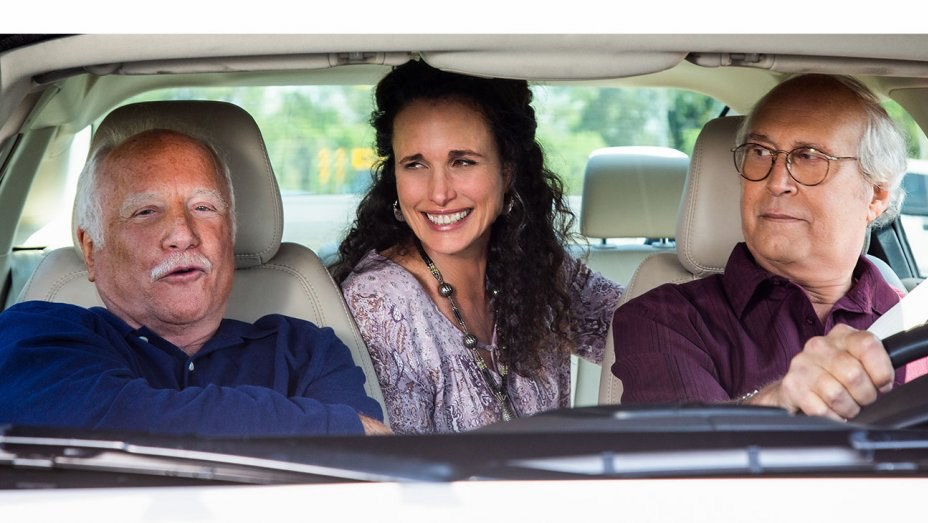 Chevy Chase, Richard Dreyfuss and Andie MacDowell in The Last Laugh Netflix
