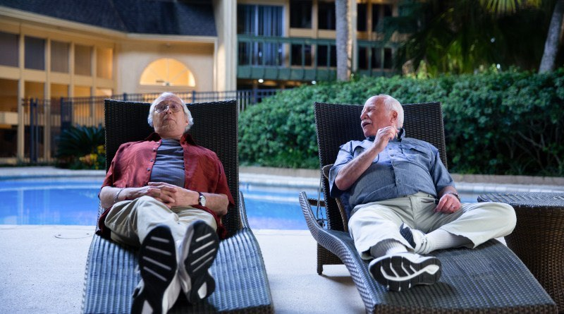 Chevy Chase as Al Hart and Richard Dreyfuss as Buddy Green in The Last Laugh, written and directed by Greg Pritikin. Patti Perret/Netflix