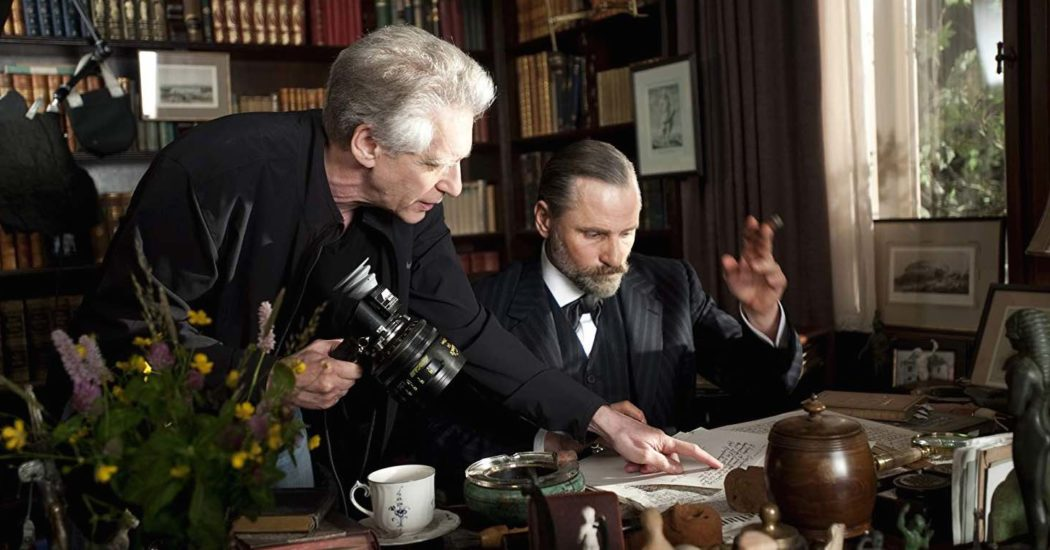 David Cronenberg and Viggo Mortensen in A Dangerous Method (2011)
