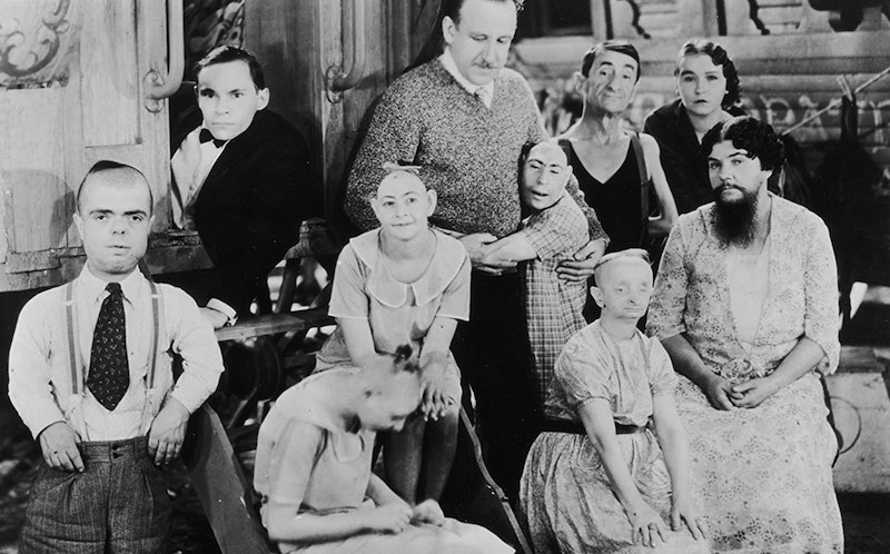 Jerry Austin, Tod Browning, Johnny Eck, Elizabeth Green, Josephine Joseph, Peter Robinson, and Olga Roderick in Freaks (1932)