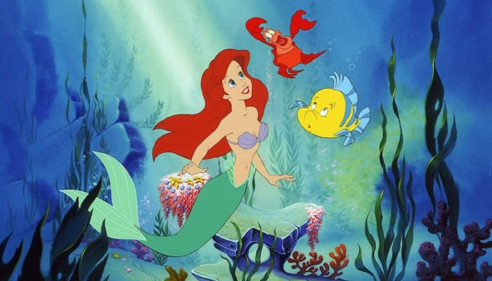 Jodi Benson, Jason Marin, and Samuel E. Wright in The Little Mermaid (1989)