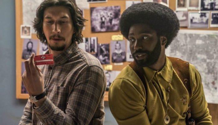John David Washington and Adam Driver in Spike Lee's BlacKkKlansman