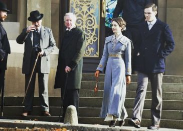 Nicholas Hoult, Lily Collins, and Daniel Hopkins in Tolkien