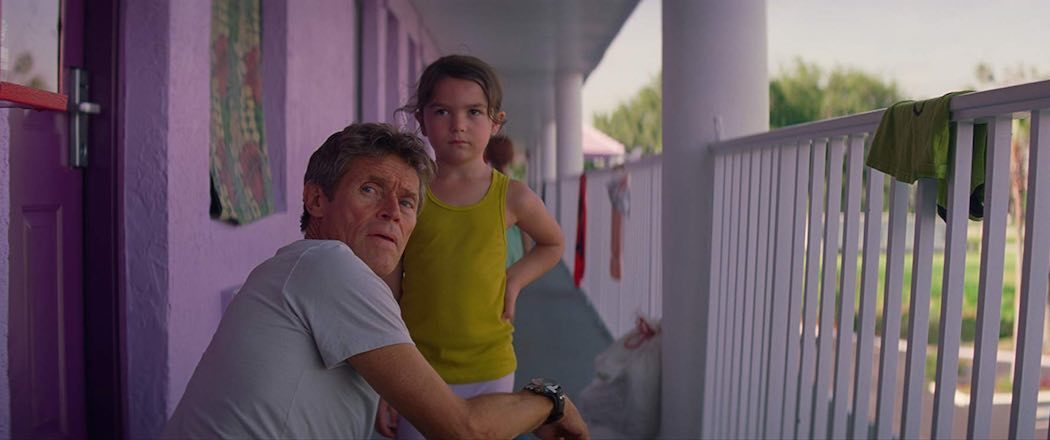 Willem Dafoe and Brooklynn Prince in The Florida Project (2017)