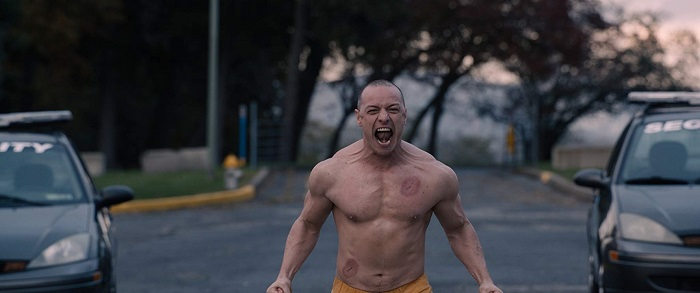 James McAvoy in 'Glass,' courtesy Blumhouse Productions/Universal Pictures/Walt Disney Pictures.