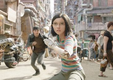 Keean Johnson (left) and Rosa Salazar (center) in Twentieth Century Fox's ALITA: BATTLE ANGEL. Photo Credit: Courtesy Twentieth Century Fox.