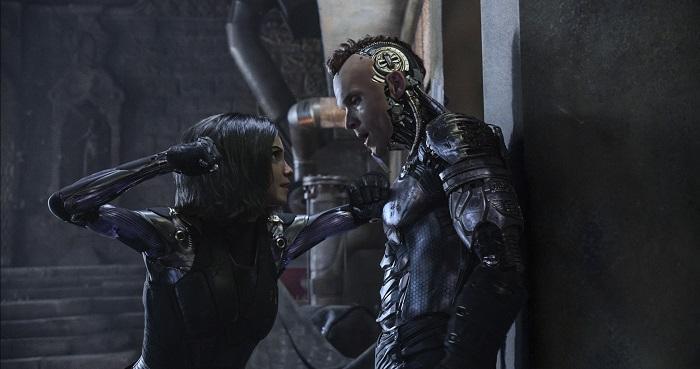 Rosa Salazar (as Alita) and Ed Skrein (as Zapan) star in Twentieth Century Fox's ALITA: BATTLE ANGEL. Photo Credit: Courtesy Twentieth Century Fox.