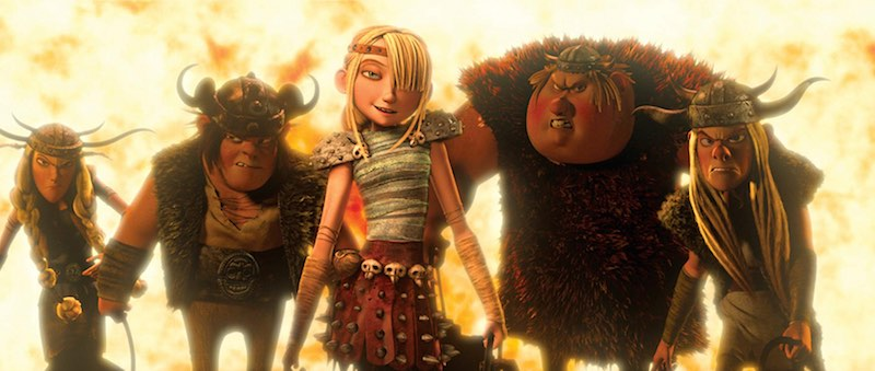 America Ferrera, Kristen Wiig, Jonah Hill, Christopher Mintz-Plasse, and T.J. Miller in How to Train Your Dragon (2010)