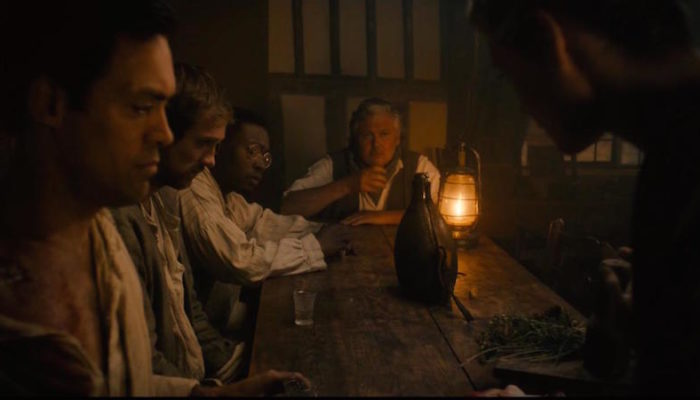 Conleth Hill, Alex Hassell, Graham Butler, Tori Butler-Hart, and Fisayo Akinade in The Isle (2019)