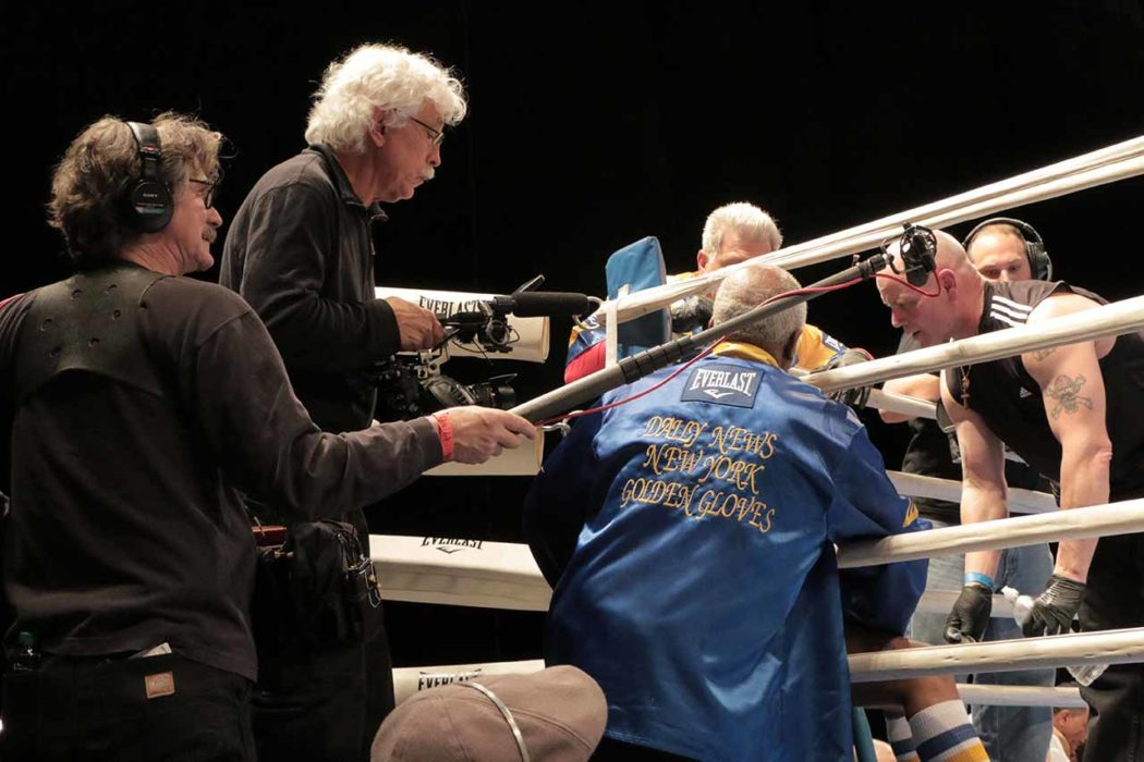 Dp Tom Hurwitz in Blue Corner at Barclays Center Finals in Cradle of Champions
