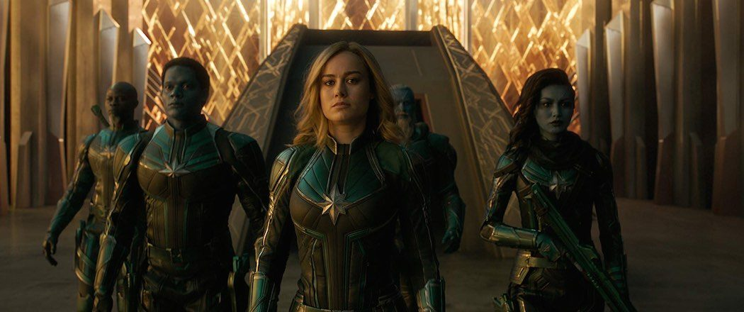 Djimon Hounsou, Brie Larson, Rune Temte, Gemma Chan, and Algenis Perez Soto in Captain Marvel (2019)