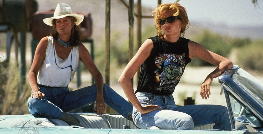 Geena Davis and Susan Sarandon in Thelma & Louise (1991)