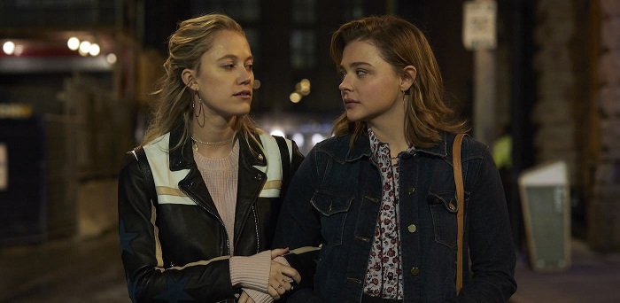 Maika Monroe and Chloë Grace Moretz in Greta, photo courtesy Focus Features.