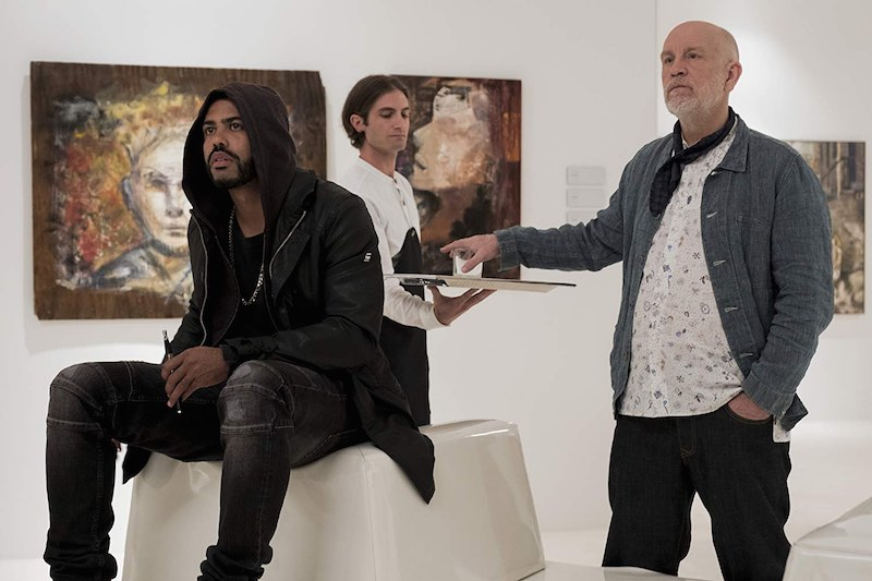 John Malkovich and Daveed Diggs in Velvet Buzzsaw (2019)