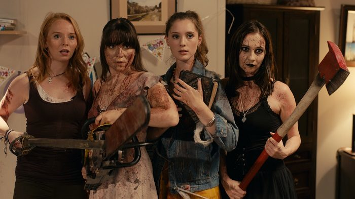 Michaela Longden, Lyndsey Craine, Rose Muirhead, and Lizzie Stanton in Book of Monsters, image courtesy Epic Pictures/Dread Central Presents