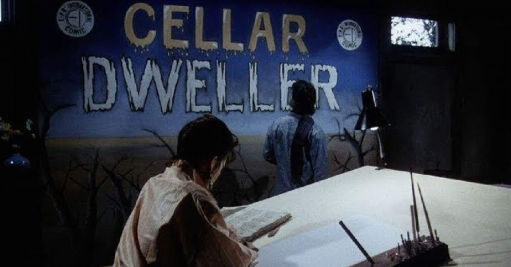 A scene from Cellar Dweller (1988)